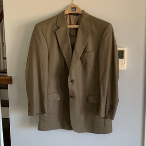 JoS A. Bank brown suit jacket, size 44R